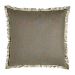 Eastern Accents - Slate Fringed Linen Pillow - Eastern AccentsSlate Fringed Linen Pillow