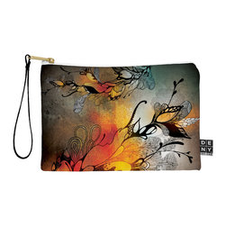 DENY Designs - DENY Designs Iveta Abolina Before The Storm Pouch - You name it, DENY's Pouches hold it! Available in two sizes and styles, you can use our water repellent pouches for cosmetics, perfume, jewelry, pencils and even an Ipad mini! And did we mention that the small size doubles as a wristlet? With a coordinating color strap and interior lining, you can throw it into a larger bag or use it on the go as a clutch to hold your phone, credit cards and various other essentials. It's a party in a bag!