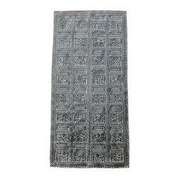 Antique Hand Carved Panel Tribal Art Teak Wood Door - http://www.mogulinterior.com