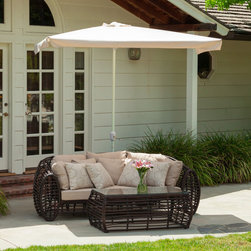 Christopher Knight Home - Christopher Knight Home Nogales Half Sun Canopy with Base - The Nogales half sun canopy makes a perfect shade solution for you and your guests. Add this canopy to any outdoor patio area to immediately give you and your guests the right protection you need from the elements.