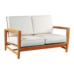 Amalfi Deep Seating Settee - By Kingsley Bate - Elegant styling and exceptional comfort merge with our AMALFI deep seating settee. For poolside, patio or sunroom seating this deep seating settee will last for decades giving you both comfort and value.