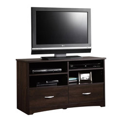 Sauder - Sauder Beginnings TV Stand in Cinnamon Cherry - Sauder - TV Stands - 413045 -