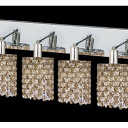 Elegant Lighting - Mini Round Chrome Six-Light Bath Fixture with Royal Cut Golden Teak Smoky and Cl - Royal Cut crystal is a combination of high quality lead free machine cut and machine polished crystals and full-lead machined-cut crystals to meet a desirable showmanship of an authentic crystal light fixture.  -Recommended to be professionally hung and supported independently of the outlet box. Consult an electrician for guidance to determine the correct hanging procedure.  -Crystals may ship separately and some assembly is required.  -Depending on the size & design the assembly can be time consuming, but is well worth the effort. Elegant Lighting - 1386W-O-R-GT/RC