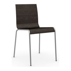 Calligaris - Online Chair, Satin Frame, Wenge, Set of 2 - How's this for versatile? This chic chair comes in a range of finishes to flatter any decor and is sturdy and stackable to boot. Minimalist and masterfully curved, it's an effortlessly stylish and surprisingly comfortable addition to your space.