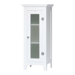 KOOLEKOO - Storage Cabinet - Refined bathroom cabinet delicately graces cramped quarters in style.