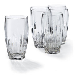 Frontgate - Set of Six Acrylic Cut Crystal High Ball Glasses - Drink glasses sold in sets of 6. Crafted from shatter-resistant acrylic. Resists clouding, scratching, and splitting for years. Top-shelf dishwasher safe. With our durable-yet-elegant Portofino Acrylic Drinkware, you can enjoy the look of beautifully cut crystal without the fragility. It's an excellent choice for poolside dining and snacking, as well as more formal outdoor events. . . . .