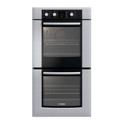 """Bosch 27"""" 300 Series Double Wall Oven With Convection, Stainless 