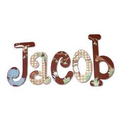 Custom Painted Jungle Letters -