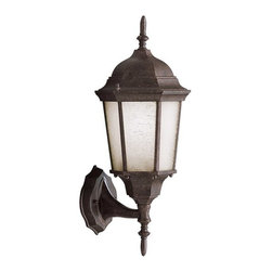 BUILDER - KICHLER 9653TZ Madison Transitional Outdoor Wall Sconce - With its timeless colonial profile, the Madison is the perfect line of outdoor fixtures for those looking to embellish classic sophistication. Because it is made from cast aluminum and comes in an extensive amount of different finishes, this Madison 1-light wall lantern can go with any home decor while being able to withstand the elements. It features a Tannery Bronze finish with clear beveled glass panels. U.L. listed for wet location.