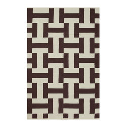 """Fab Habitat - Canal Coffee & Beige (2' x 3') - Say, """"HI!"""" to this eye-catching rug. And depending on how your eyes adjust to its pattern, it looks like it's (subliminally) saying, """"HI!"""" to you as well, as the letters """"H"""" and """"I"""" appear to pop into view. It could very well be the """"nicest"""" addition to your home."""