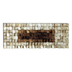 Benzara - Wood Wall Art with Natural Wood Finish - If you are looking for a uniquely styled home accessory to accent the appearance of interiors, then this Wood Wall Art makes a great choice. This art piece features a distinctive style and makes for an interesting accessory for settings. It features a versatile design that can be incorporated in all kinds of contemporary home and office settings. Crafted with skilled workmanship, the art piece has a natural wood finish that makes it easy to blend in with different kinds of settings and decors. Made from quality wood, the art work includes blocks placed in an unusual way together to give the overall design an individualistic style. This is a perfect home accessory which every household must have which besides beautifying your home will prove to be a thing of utility too.