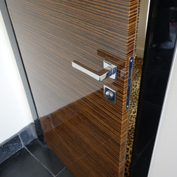 SMART doors in Manhattan penthouse - Glossy chrome handle with magnetic mortise lock