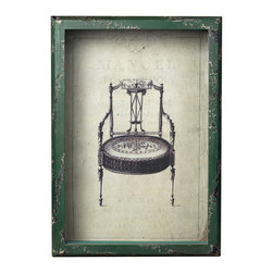 Sterling Industries - Sterling Industries 128-1027 Picture Frame w/ French Antique Chair Print - Picture Frame (1)