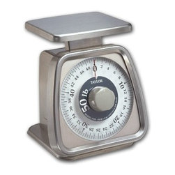 TAYLOR PRECISION PRODUCTS - 50LB Kitchen Scale - Rotating dial allows for container deduction and quick zero for multiple ingredient measuring. Mechanical portion control. Cap lb=50