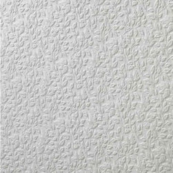 Graham and Brown - Paintables Super fresco Wallpaper - Small Leaf Pattern - Designed by Array. Part of the Paintables Wallpaper Collection. Materials: White paintable vinyl. Wallpaper arrives white to custom paint, or apply as is.