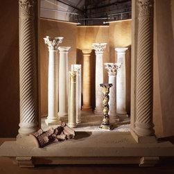 05.03  Wood & Stone Capitals, Columns & Bases - Original Set for Archetype Incorporated self promotion photo shoot/ Ideas Magazine/ Photographers 2, Inc, Miami, Florida.....