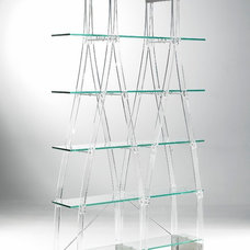 Contemporary Bookcases Clear Shelves