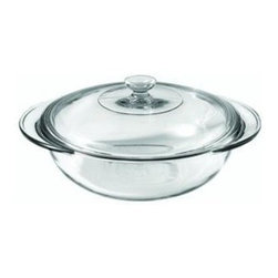 ANCHOR HOCKING GLASS - 819320BL5 2 Quart Casserole with Lid - 2 Quart Clear Casserole Dish with Lig