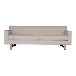 Armen Living Halston Sofa - Tufted and tailored to a T, the Armen Living Halston Sofa artfully combines modern and traditional elements to create an irresistible centerpiece for the contemporary home. Accented with leg stretchers and welting, this modern sofa will bring strong lines and rich visual detail to your living room or upscale game room.About Armen LivingImagine furniture without limits - youthful, robust, refined, exuding self-expression at every angle. These are the tenets Armen Living's designers abide by when creating their modern furniture collections. Building on more than 30 years of industry experience, Armen Living combines functional versatility and expert craftsmanship into their dramatic furniture styles, all offered at price points fit for discriminating budgets. Product categories include bar stools, club chairs, dining tables, ottomans, sofas, and more. Armen Living is based in Sun Valley, Calif.
