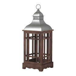 Sterling Industries - Sterling Industries 138-036 Poynton Foyer Pendants in Natural Wood Tone With Sta - Poynton-Outdoor Lantern (Large)