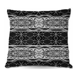 DiaNoche Designs - Pillow Woven Poplin - Black Curtain - Toss this decorative pillow on any bed, sofa or chair, and add personality to your chic and stylish decor. Lay your head against your new art and relax! Made of woven Poly-Poplin.  Includes a cushy supportive pillow insert, zipped inside. Dye Sublimation printing adheres the ink to the material for long life and durability. Double Sided Print, Machine Washable, Product may vary slightly from image.