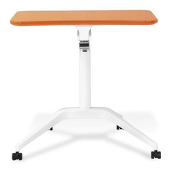 Jesper - Jesper Height Adjustable Computer Table - Orange - Designed to fit in wherever you need it to be-the ergonomic Computer Table can work as a mobile freestanding desk at home or in an office, or within a systems environment. Moving silently up and down in seconds, the WorkPad uses an innovative counter-balance mechanism to enable immediate and effortless, single-handed height adjustment - and it allows you to make the transition from seated to standing position heights so that you can simply work sitting or standing. With a small footprint, castors for quick mobility and several finishes to choose from, this table is an easy fit in any space.