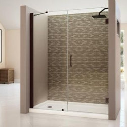 "DreamLine - DreamLine Shower Door with 30"" Stationary Panel and Support Arm (Walk-in width 5 - Shower Door with 30"" Stationary Panel and Support Arm (Walk-in width 53"" - 54"")"