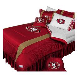 Store51 LLC - NFL San Francisco 49ers Football Team 4 Piece Twin Bedding Set - Features: