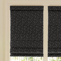 Levolor - Levolor Roman Shades: Scrolls (Light Filtering) - Levolor offers a stunning new collection of high-quality, high value roman shades that perfectly suit your lifestyle.  The Classic Scroll collection features a traditional two-tone jacquard pattern while the Modern Scroll selection offers a more contemporary and slightly whimsical design.