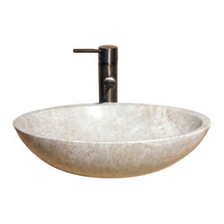 The Allstone Group - V-VO18 Emperador Light Polished Vessel Sink - Natural stone strikes a balance between beauty and function. Each design is hand-hewn from 100% natural stone.  Vessel sinks can be the most inspiring feature in a bathroom, adding style and beauty to any bath space.  Stone not only is pleasing to the eye but also has the feel of something natural and solid.