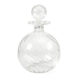 """IMAX - Vivian Borosilicate Glass Decanter with Stopper - Exquisite design and beautiful round shape define the Vivian Borosilicate glass decanter with a globe shaped stopper. Item Dimensions: (8.75""""h x 5.75""""w x 5.75"""")"""