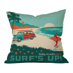 Anderson Design Group Surfs Up Outdoor Throw Pillow - Do you hear that noise? it's your outdoor area begging for a facelift and what better way to turn up the chic than with our outdoor throw pillow collection? Made from water and mildew proof woven polyester, our indoor/outdoor throw pillow is the perfect way to add some vibrance and character to your boring outdoor furniture while giving the rain a run for its money.