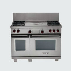 contemporary gas ranges and electric ranges by Sub-Zero and Wolf