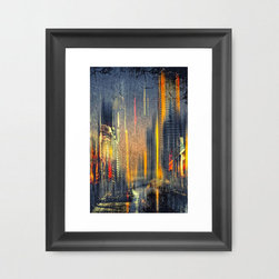 Dubai's Raining Light Art Print - Bring the beauty of Dubai into your home with Dubai's Raining Light Art Print.