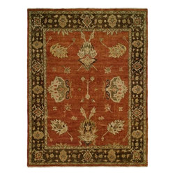 Kalaty - Hand Knotted Carpet - 8x10 hand knotted wool carpet. Hand made in India with 100% handspun wool and natural dyes.