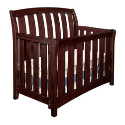 Westwood Design - Brookline 4-in-1 Convertible Crib Collection - Chocolate Mist - WWD089 - Shop for Cribs from Hayneedle.com! Crafted of durable hardwood and featuring clean simple lines the Brookline Convertible Crib - Chocolate Mist looks great in nurseries of any style and for boys and girls. This crib will convert to a toddler bed when you remove the front panel and replace it with the included guard rail. Remove the rails all-together for use as a daybed. Finally add the full-size conversion rails (sold separately) and your child will enjoy this crib as a full-size bed until they head off for college. The mattress adjusts to three heights thanks to a steel spring support system.There's no shortage of matching storage to go with this crib either. You have a choice of several case pieces all of which feature solid wood drawers with English dovetails and smooth steel ball bearing glides for quiet and easy use. The hutch even features a built-in Touch Light with a 3-way dimmer switch.About Westwood Design Dedicated to the pursuit of Beautiful Furniture Thoughtfully Designed Westwood Design is focused on making every piece of juvenile furniture they create one that will enhance the comfort function and beauty of every child's room. The founders of Westwood Design have years of experience in the juvenile products industry. They are experts in furniture design engineering and manufacturing as well as operations and customer service. They know that juvenile furniture may be new to you and they want to make your selection as easy as possible.