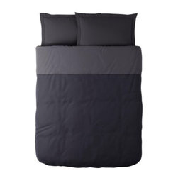 MALOU Duvet cover and pillowsham(s) - Duvet cover and pillowsham(s), gray, black