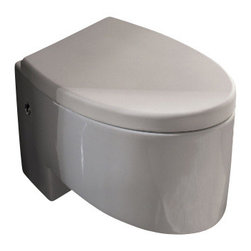 Scarabeo - Modern Wall Mounted Ceramic Toilet Zefiro - Part of the Scarabeo Zefiro collection, this wall mounted toilet is essential.