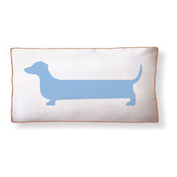 "Naked Decor - Super Dachshund Long Pillow - Size: 21""x11"""