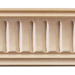 "Inviting Home - Lowell Carved Crown Molding (small) - red oak wood - Oak hardwood crown molding 1-5/8""H x 1-5/8""P x 2-1/4""F sold in 8 foot length (3 piece minimum required) Hand Carved Wood Molding specification: Outstanding quality molding profile milled from high grade kiln dried American hardwood available in bass hard maple red oak and cherry. High relief ornamental design is hand carved into the molding. Wood molding is sold unfinished and can be easily stained painted or glazed. The installation of the wood molding should be treated the same manner as you would treat any wood molding: all molding should be kept in a clean and dry environment away from excessive moisture. acclimate wooden moldings for 5-7 days. when installing wood moldings it is recommended to nail molding securely to studs; pre-drill when necessary and glue all mitered corners for maximum support."