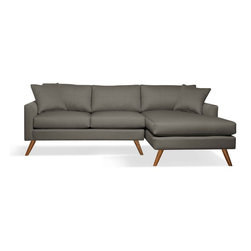 "True Modern - Dane Sofa with Chaise - ""Chaise"" into something a little more comfortable with this sofa. It has a slightly smaller scale making it a good fit if you live in a condo or apartment — or want to place it in your den."