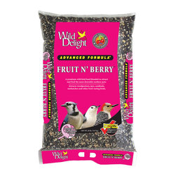 Wild Delight - Fruit N' Berry 20 lbs + Freight - A premium wild bird food blended to attract and feed the most desirable outdoor pets. Songbirds, Cardinals, Grosbeaks, Finches, Jays, Thrushes, Buntings and other outdoor pets will eat the Fruit N' Berry seed.