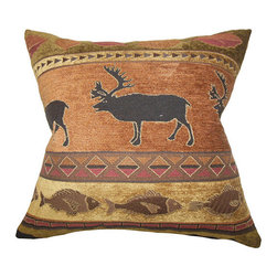 The Pillow Collection - Hulda Brown and Orange 18 x 18 Animal Print Throw Pillow - - Pillows have hidden zippers for easy removal and cleaning  - Reversible pillow with same fabric on both sides  - Comes standard with a 5/95 feather blend pillow insert  - All four sides have a clean knife-edge finish  - Pillow insert is 19 x 19 to ensure a tight and generous fit  - Cover and insert made in the USA  - Spot clean and Dry cleaning recommended  - Fill Material: 5/95 down feather blend The Pillow Collection - P18-MVT-1258-BROWNORANGE