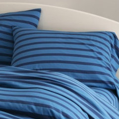 sheet sets French Stripe Jersey-Knit Bedding
