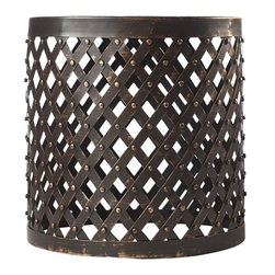 Shiva Lattice Side Table - I love the texture of these side tables. They would be great indoors or out.