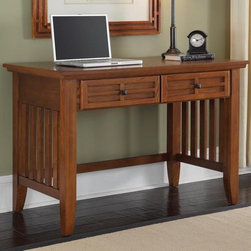 HomeStyles - 42 in. Student Desk (Cottage Oak) - Finish: Cottage OakEmbellishes typical mission style with framed doors. Lattice moldings. Slightly flared legs. Black finish hardware. Made from Asian hardwoods and veneers. Cottage oak finish. 42 in. W x 24 in. D x 30 in. H