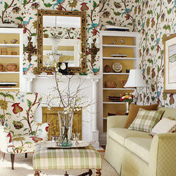 Baron Wallpaper - Peacocks are so sophisticated, and this wallpaper by Thibaut is the epitome of luxury.