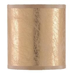 Currey & Company - Cobweb Gold Parchment Shade - Decorative shade