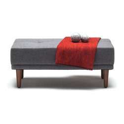 NYFU - Limber Ottoman - The densely filled cushions give a plush firm and durable structure, allowing this light grey sofa to be more than a day time bed. Limber is the ideal solution to those who want to make more space in their apartments by not having a big bulky bed. And if it is for couch surfers, they'll wonder when couch surfing became so comfortable!
