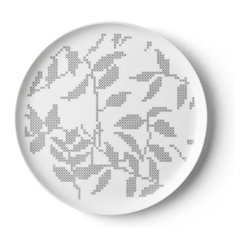 Gray Leaves Plate